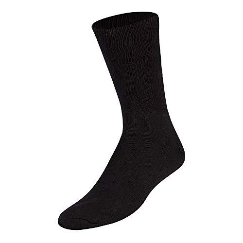 Premium Cotton Diabetic Loose Top Socks (Black, Medium)
