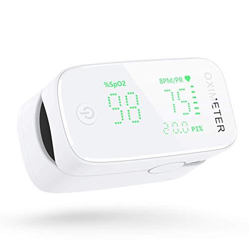 konjac Oxímetro dedo, Oxímetro de pulso profesional Pulsioximetro, Medir saturación de oxígeno en sangre (Verde)