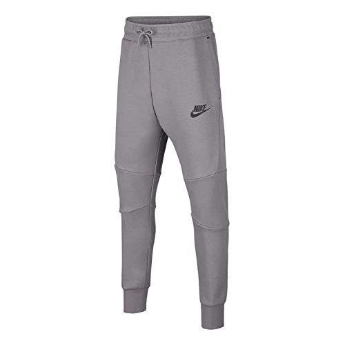 Desconocido Jungen Boys' Nike Sportswear Tech Fleece Pant Hose, grau/schwarz (Gunsmoke/Black), S