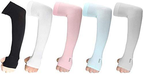 Protección UV mangas del brazo frío abarca brazo de los guantes Hombres...