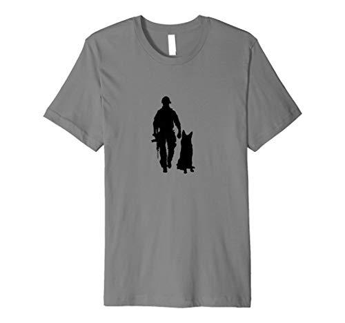 The Military Combat Dog K9 Veteran Support T-Shirt