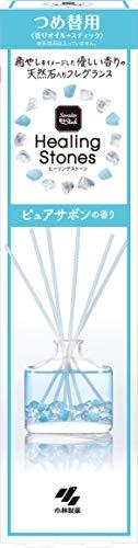 サワデー香るスティック ヒーリングストーン 芳香剤 部屋用 ピュアサボン 詰め替え用 ルームフレグランス 70ml 小林製薬