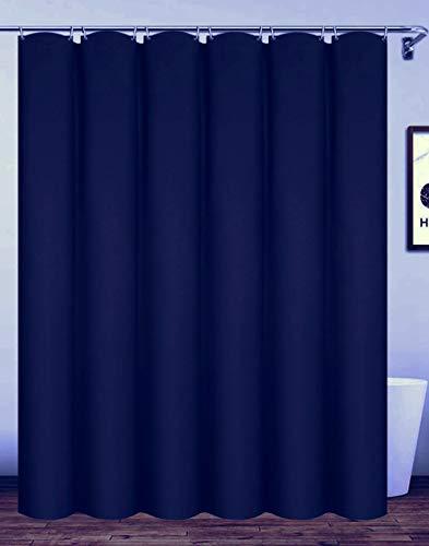 Homehold - Tenda da bagno con ganci, 200 x 240 cm, colore: Blu navy