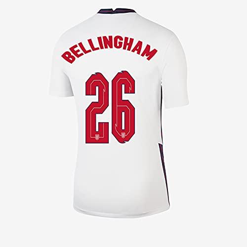 Ayundong 2021 Inglaterra Bellingham Camiseta de Futbol de Hogar para Hombre Talla...