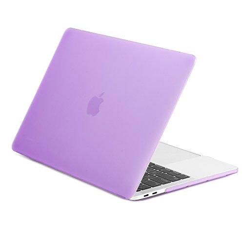 TOP CASE MacBook Pro 13 inch Case 2019 2018 2017 2016 Release A2159 A1989 A1706 A1708, Classic Series Rubberized Hard Case Cover Compatible MacBook Pro 13' W/WO Touch Bar – Purple
