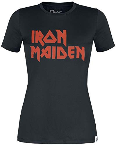 Iron Maiden Functional Shirt Mujer Camiseta Negro XS, 90% poliéster, 10% elastán, Estrechos