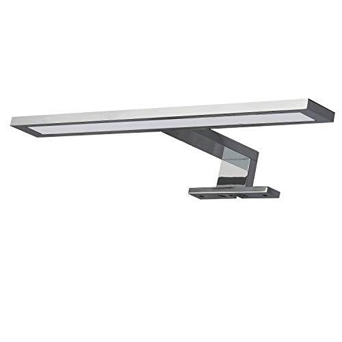 LED Spiegelleuchte 30cm 6W neutralweiß 230V aus Aluminium verchromt – IP44 für Bad Spiegellampe Spiegelschrank-Lampe Schrankleuchte Badezimmer Schminklicht