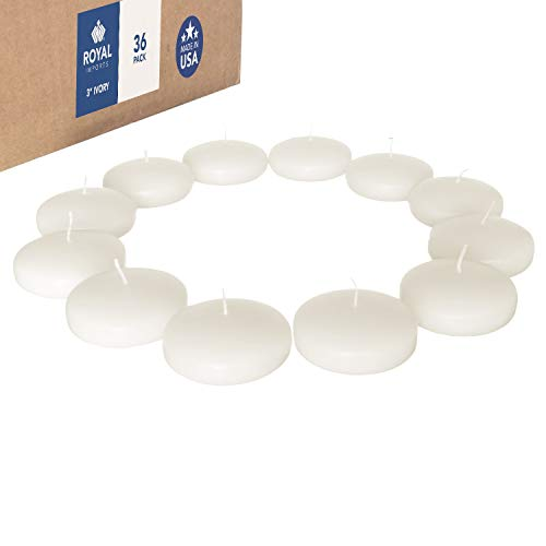 Royal Imports Floating disc Candles for Wedding, Birthday, Holiday & Home Decoration, 3 Inch, Ivory...