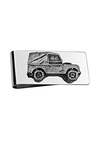Classic UK Car 4x4 Series 1 SWB ref112 - Soporte para clip de dinero (efecto peltre)