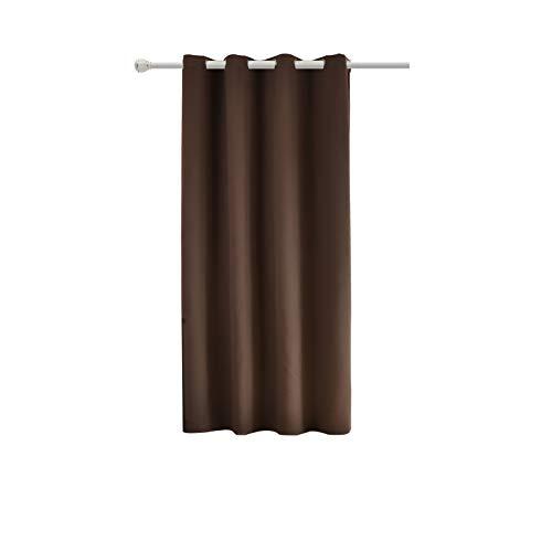 WOLTU #488, Vorhang Gardinen Blickdicht mit Ösen, Leichter & weicher Verdunklungsvorhang für Wohnzimmer Schlafzimmer Tür, 135x175 cm, Braun, (1 Stück)