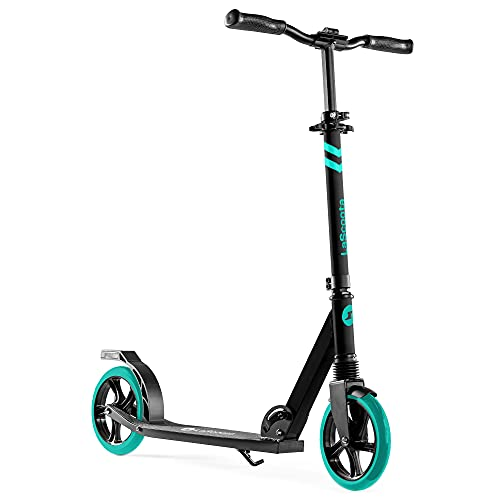 Scooter for Kids Ages 6-12 Scooters for Teens 12 Years and Up - Kick Scooters for Adults, Teens and Kids - Scooters for Kids 8 Years and Up with Quick Release Folding System (Aqua)