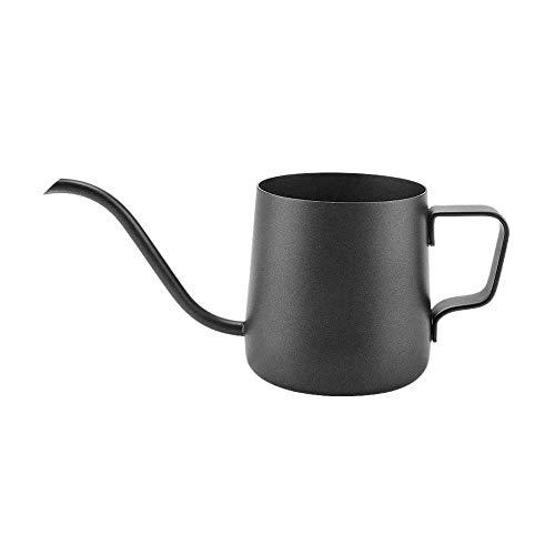 XJF Tetera de cuello de cisne de café, 250 ml de acero inoxidable con cuello de cisne para café y té, para cocina en el hogar