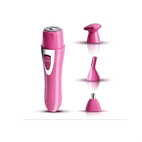 WGLL Depilador de removedor de cabello eléctrico, 4 en 1 USB Mini Lady Azapa Aray Pein Shaver Viajes Bikini Remoción de cabello sin dolor Empresa impermeable Depilatorio rápido Con Shaver Head Trimmer