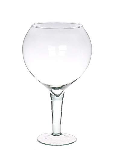 INNA-Glas Copa de Gin Tonic XXL DANSON de Cristal, Transparente, 33cm, Ø14cm/Ø19cm - Vaso de Cristal - Copa de Vidrio