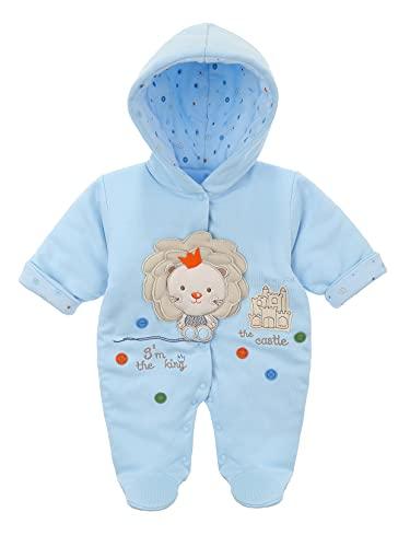 Sofija Mono de forro polar con capucha para bebé, para invierno, de 0 a 12 meses, Rubi Azul, 9 mes