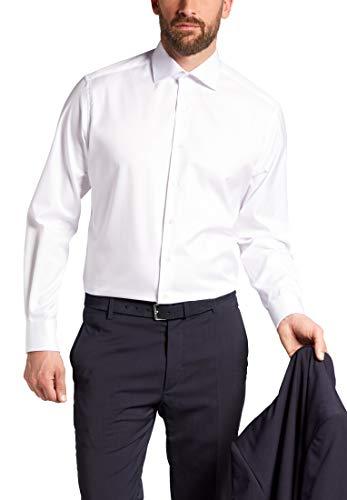 eterna Langarm Hemd MODERN FIT Twill unifarben, Weiß, Gr. W42 Langarm