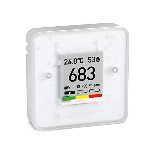 Aranet4 HOME: drahtloser innenraum Monitor der Luftqualität für Zuhause, Büro und Schule [CO2, Temperatur, Feuchtigkeit, etc.] tragbar, batteriebetrieben, e-Ink-Display, App für Konfiguration