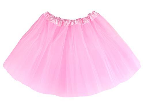 Alsino Erwachsenen Tüllröcke tütü Prinzessin Ballettrock mit elastischem Bund für Damen, TUT-036 rosa
