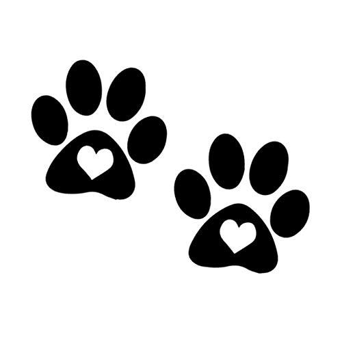 FACLLUKPP 3 Piezas Pegatinas y calcomanías para Coche 14,7 x 11,3 cm Paw Pet Puppy Glass Window Colgando Decoraciones-Calcomanías de Personalidad para la Familia y el Coche/Pegatina de Windows