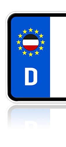 Ritter Mediendesign Aufkleber Deutsches Kaiserreich Fahne Flagge des Nordeutschen Bundes 2 Stück Sticker Plakette Nummernschild Waschstrassenfest