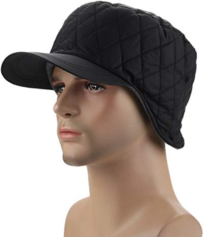 aquí tiene la última BZAHW BZAHW BZAHW Mujeres Hombres Color Sólido Más Terciopelo Sombrero Cálido Cazadora Cazadora Orejeras Sombrero (Color   Color negro , Talla   One Talla )  tienda de descuento