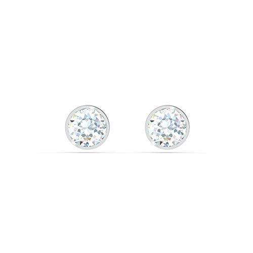 Swarovski Women's Tennis Stud Pierced Earrings, Set of Brilliant White Swarovski Crystal Earrings with Rhodium Plating, from the Tennis Collection
