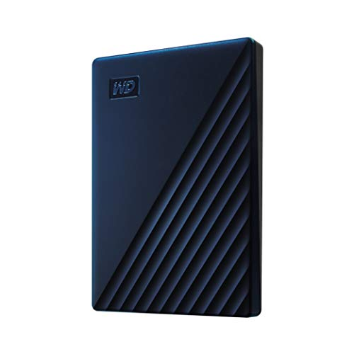 WD My Passport for Mac externe Festplatte 4 TB (mobiler Speicher, USB-C-fähig, WD Discovery Software, Passwortschutz, Mac kompatibel, einfach einzusetzen) mitternachtsblau