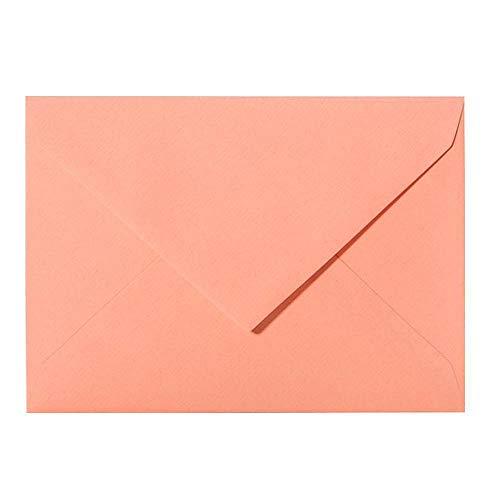 Briefumschläge DIN C6 114 x 162 mm nassklebend 120 g/qm - Plus Überraschungsgeschenk pro Bestellung -Marke: Paper24 26 Lachs 25 Stück