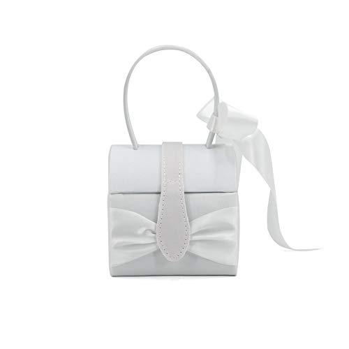 Jewellery OrganizerJewelry Storage Box Jewelry Jewelry Portable Bow Suitcase 19*10*10cm White.