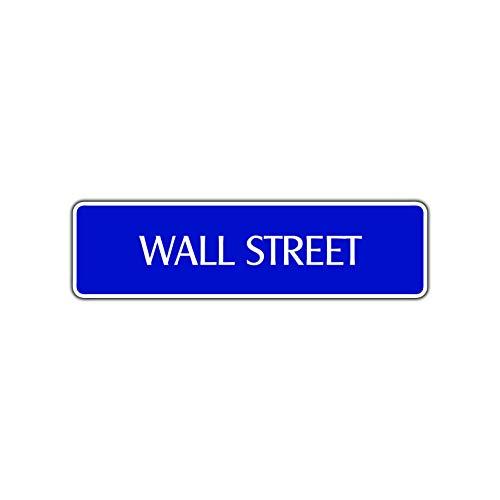 TammieLove Plaque Murale de Rue avec Inscription « Stock Broker Trader Invest Occupy » à New York Manhattan