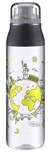 alfi Trinkflasche 700ml, Tritan BPA Frei, Wasserflasche tritanBottle Travel, auslaufsicher, dicht bei Kohlensäure, spülmaschinenfest, 5495.107.070 Flasche für Kinder, Schule, Sport, Freizeit