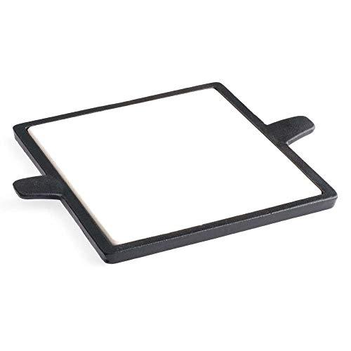 Tepro Pizzastein-Einleger für Rost in System - eckig, schwarz/beige, 23x30.5x1 cm, 8578