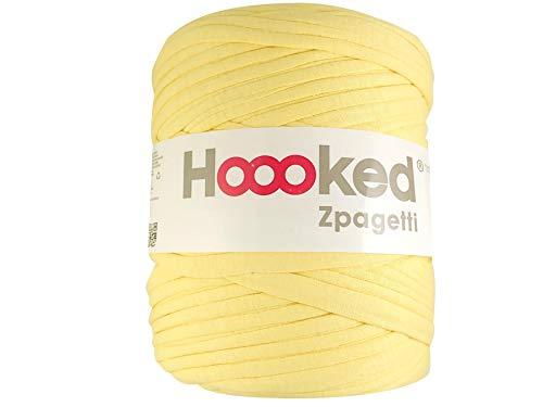 700 g 120 m Hoooked Zpagetti Gomitolo di Cotone Bianco Vaniglia