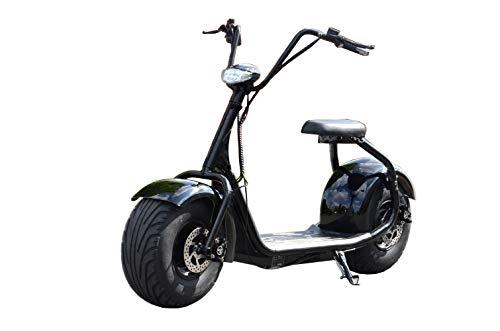 Coco Bike Fat - Patinete eléctrico (hasta 40 km/h, alcance de 35 km, 60 V, 1000 W, batería de 12 Ah, frenos y luz)