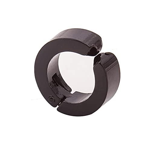 DFDLNL Earings Holiday Clip de Acero para la Oreja, Hombres y Mujeres, sin Perforaciones, Clip de Hueso para Oreja, Conjunto de Pendientes con Hebilla de Oreja, Negro