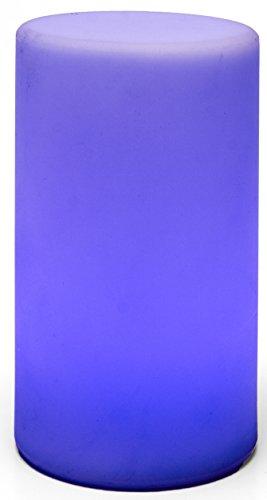 LED-Highlights Tischlampe Zylinder 20 x 10 cm Aufladbar mit Akku Farbwechsel Fernbedienung Led Stimmungslicht Nachtlicht Nachttischlampe Dimmbar