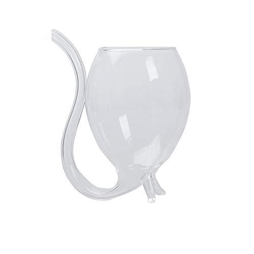 Gcroet Taza de la Taza del Vino de Oporto Sippers Vampiro Taza del Vino de Cristal Vasos de Tubo de succión con la Paja de Beber de la decoración del hogar Partido publicación 300ml / 10,6 oz 1pc