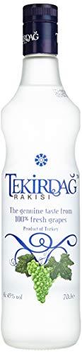 TEKIRDAG RAKISI – IN KUPFERBLASEN DESTILLIERTER 100%IGER TRAUBEN-RAKI – 1x0,7l Raki mit 45% vol. - Hergestellt in der Türkei