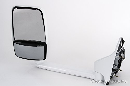 Best in Auto 1999-2014 Compatible with Ford F250 F350 F450 F550 Superduty 102 Inches Left Manual Uv White Towing Mirror