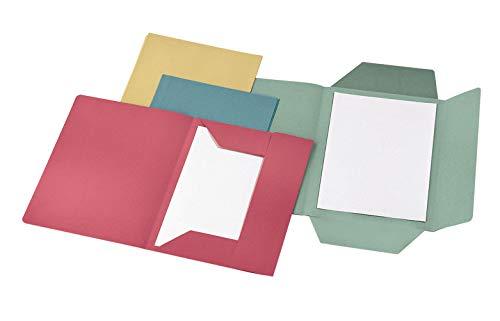 Cartellina 3 lembi in cartoncino Manilla 150 Gr - 25x33 cm Confezione 50 pezzi Rosso