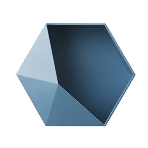 Angelliu Mensole Angolari Esagonali, Cestino Sospeso Geometrico Moderno per Il Bagno del Soggiorno