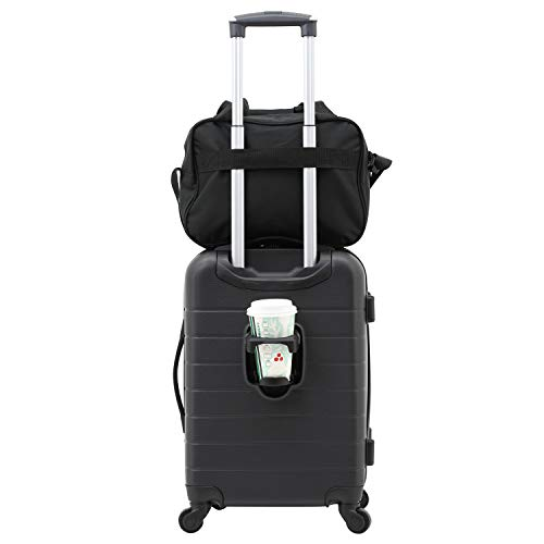 Great Deal! Wrangler 2 Piece Smart Spinner Carry-On Luggage Set