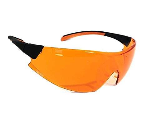 Óculos PROTEÇÃO Laranja 546 Bloqueador De Luz Azul - Escuridão Virtual BLUE CONTROL ideal para DENTISTAS LUZ ULTRAVIOLETA, VULCANIZAÇÃO, TRABALHO COM LÂMPADA DE LUZ DE CURA