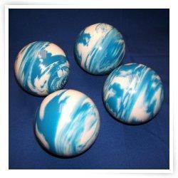 BuyBocceBalls Premium Quality EPCO 4 Ball 107mm Tournament Bocce Set - Marbled Blue/White [...