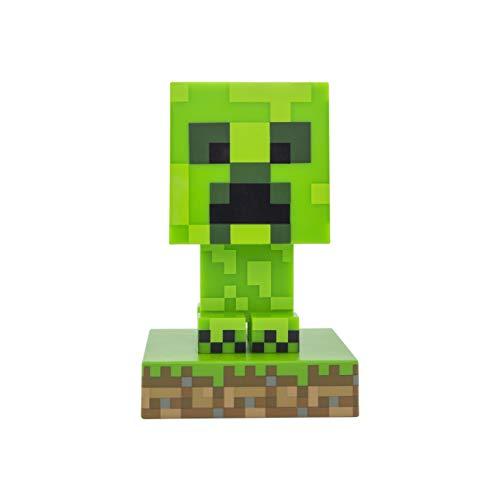 Paladone Minecraft Creeper 3D Icon Light BDP   Offiziell lizenziertes, grünes, pixeliges Nachtlicht oder Schreibtischlampe   Einzigartige Geschenkidee für Gamer   angetrieben durch 2 x AAA, PP6593MCF