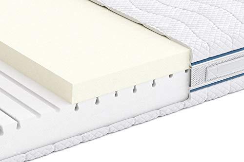 Marca Amazon -Alkove - Colchón de espuma viscoelástica con 7 zonas y funda extraíble Sanitized®, 90 x 190 x 23 cm