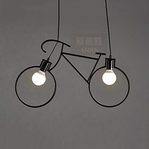 Hdmy Minimalista Industrial Bicicleta Colgante Luz Postmoderno Línea Negra Metal Hierro Techo Lámpara de Techo Creativo Café Casa de té Sala de exposiciones Restaurante Araña: Amazon.es: Hogar