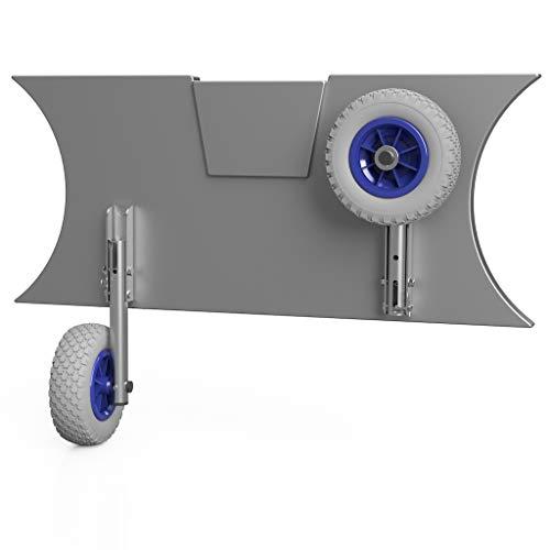 SUPROD Slipräder, Schlauchbooträder, Heckräder, mit Drehfunktion, MD200, Edelstahl V4A, grau/blau