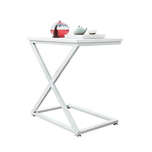 Hairong Leisure Small Side Table salontafel nachtkastje massief hout + staal wit meerdere maten