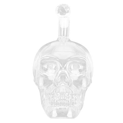 Botella de vino con forma de calavera, botella de vino de cristal, botella de whisky transparente, contenedor de vino para Bar, suministros KTV(M)